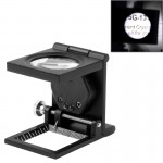 Mini Desk Style Loupe Metal Antique Magnifier(Black)