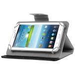 Universal Crazy Horse Texture Horizontal Flip Leather Case with Holder for 7 inch Tablet PC(Black)
