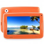Astar Kids Education Tablet, 7.0 inch, 512MB+4GB, Android 4.4 Allwinner A33 Quad Core, with Silicone Case(Orange)