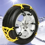 Size M Car Snow Tire Anti-skid Chains Yellow Chains 6pcs/set For 1 Car With Black Bag Packaging