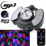 LY-308, Multifunction RGB Crystal Magic Ball with MP3 Music Player Function / 128M Micro SD Card / Micro USB Card Reader / Remot