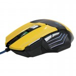 7 Buttons with Scroll Wheel 5000 DPI LED Wired Optical Gaming Mouse for Computer PC Laptop(Yellow)