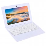 TDD-10.1 Netbook PC, 10.1 inch, 1GB+8GB, Android 5.1 ATM7059 Quad Core 1.6GHz, BT, WiFi, HDMI, SD, RJ45(White)
