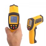 Infrared Thermometer, Temperature Range: -50 - 900 Degrees Celsius(Yellow)