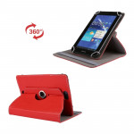 Litchi Texture 360 Degree Rotatable Universal Leather Case with Sleep / Wake-up & Holder for 7.0 inch Tablet PC(Red)