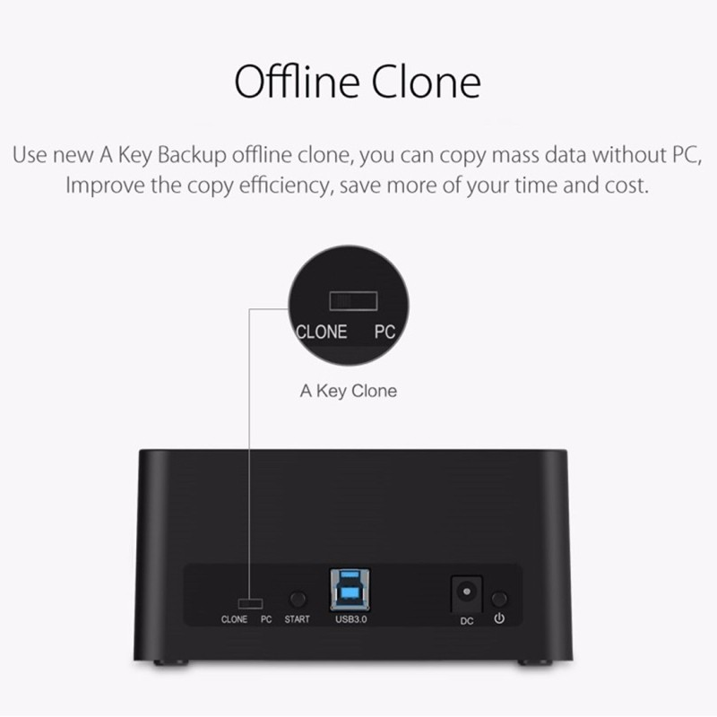 ORICO 6629US3-C 2-bay USB 3 0 Type-B 2 5 inch / 3 5 inch SATA HDD / SSD  External Storage Enclosure Hard Disk Box(Black) - Wewoo