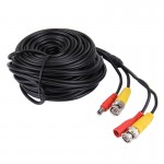 CCTV Cable, Video Power Cable, RG59 Coaxial Cable, Length: 20m(Black)