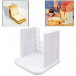 Bread Loaf Toast Kitchen Slicer Cutter Mold Maker Slicing Cutting Guide Tool(White)