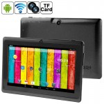 Tablette Tactile noir 7 pouces Tactile, 512 Mo + 4 Go, Android 4.2.2, 360 degrés de rotation du menu, Allwinner A33 Quad-core...