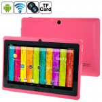 Tablette Tactile magenta 7 pouces Tactile, 512 Mo + 4 Go, Android 4.2.2, 360 degrés de rotation du menu, Allwinner A33 Quad-c...