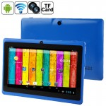 7.0 inch Tablet PC, 512MB+4GB, Android 4.2.2, 360 Degree Menu Rotate, CPU: Allwinner A23, 1.2GHz(Blue)