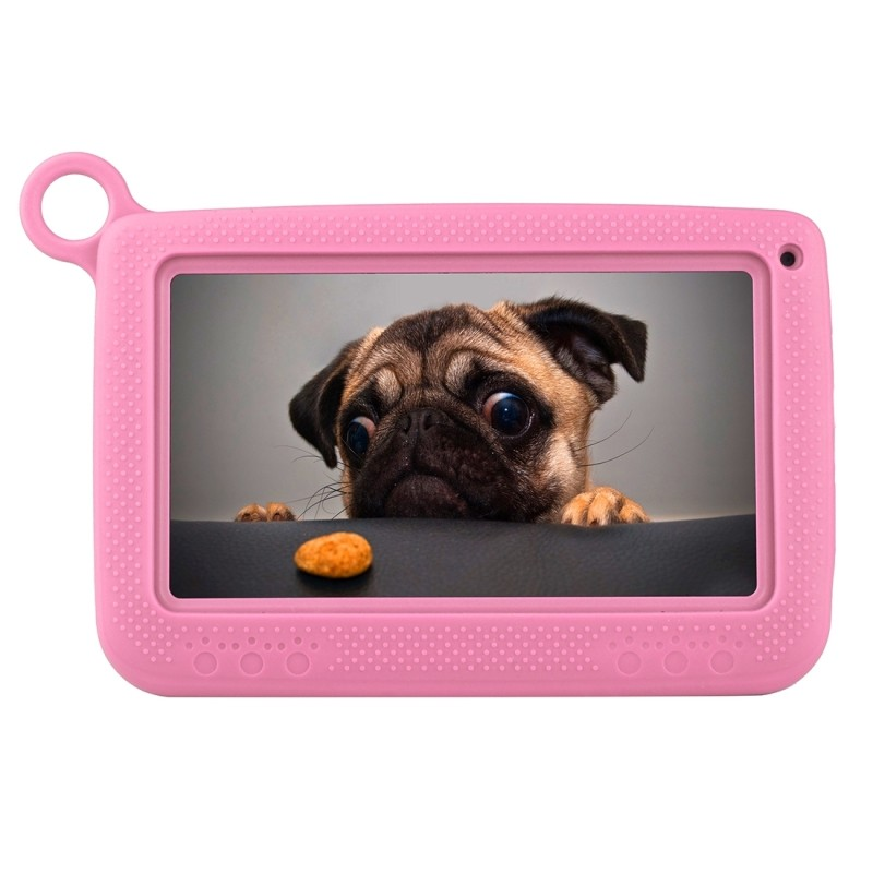 Astar Kids Education Tablet, 7 0 inch, 512MB+4GB, Android 4 4 Allwinner A33  Quad Core, with Silicone Case(Pink)