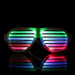 LED-CM03 LED Musical Shades Sound & Music Active LED Party Glasses with USB Charger