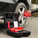 Roadside Emergency Kit Including 12V DC Electric Hydraulic Floor Jack with Inflatable Pump Emergency Hammer and Electric Impact