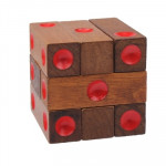 Educational Wooden Dice Pile-up Puzzle Brick Toy