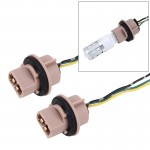 2 PCS 7443 Car Auto LED Bulb Socket Holder (No Including Light)