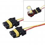 2 PCS H8/H11 Car Auto LED Bulb Socket Holder (No Including Light)