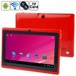 7.0 inch Tablet PC, 512MB+8GB, Android 4.0 360 Degree Menu Rotate, Allwinner A33 Quad Core, 1.5GHz(Red)