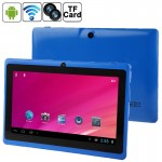 Tablette Tactile bleu 7 pouces Tactile, 512 Mo + 8 Go, Android 4.0 360 degrés de rotation du menu, Allwinner A33 Quad Core, 1...