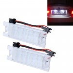 2 PCS License Plate Light with 24 SMD-3528 Lamps for Opel
