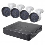 COTIER A4B2 4Ch 1080P 2.0 Mega Pixel Bullet IP Camera NVR Kit, Support Night Vision / Motion Detection, IR Distance: 20m