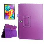 Lichee Texture Horizontal Flip Leather Case with Holder for Samsung Galaxy Tab S 10.5 / T800(Purple)