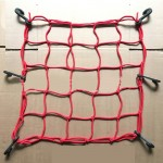 Motorcycle Rubber Fix Net with 6 Plastic Hooks, Size:40×40cm