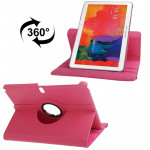 360 Degree Rotatable Litchi Texture Leather Case with 2-angle Viewing Holder for Samsung Galaxy Tab Pro 10.1 / T520 (Magenta)