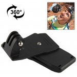 360 Degree Rotation Backpack Rec-Mounts Clip Clamp Mount for GoPro HERO4 / 3+ / 3 / 2 / 1