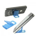 Mini Universal Phone Hard Plastic Stand Holder for iPhone 4 & 4S / iPhone 3GS / iPad (Need 2 pcs) / Mobile Phone(Blue)