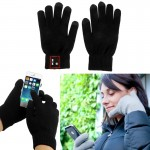 Hi-Call Bluetooth 3.0 Talking Touch Gloves, Support Hands-free / Touch Function(Black)