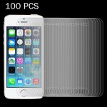 100 PCS for iPhone SE & 5 & 5S & 5C 0.26mm 9H Surface Hardness 2.5D Explosion-proof Tempered Glass Film