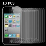 10 PCS 0.26mm 9H Surface Hardness 2.5D Explosion-proof Tempered Glass Screen Film for iPhone 4 & 4S