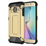 Coque renforcée Galaxy S6 Edge Samsung bord / G925 Armure robuste TPU + Combinaison PC Case Gold - wewoo.fr