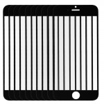 10 PCS iPartsBuy for iPhone 6 Front Screen Outer Glass Lens(Black)