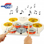 Pour enfants en silicone Digital Roll Up Taille: 57cm x 31cm Kit de batterie musical flexible USB - Wewoo