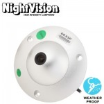1 / 3 Sony 650TVL 3.6mm Lens Waterproof Color Dome CCD Video Camera