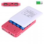 Portable High-efficiency 4 x 18650 Batteries Plastic Power Bank Shell Box with Dual USB Output & Heat Dissipation Hole for iPhon