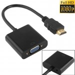 Full HD 1080P HDMI to VGA + Audio Output Cable for Computer / DVD / Digital Set-top Box / Laptop / Mobile Phone / Media Player,