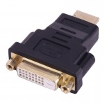 Gold Plated HDMI 19 Pin Male to DVI 24+1 Pin Female Adapter