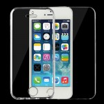 For iPhone 5 & 5s & SE 0.75mm Double-sided Ultra-thin Transparent TPU Protective Case (Transparent)