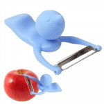 Men Shaped Fruit Vegetable Kitchen Blade Peeler with Durable ABS Handle