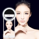 Charging Selfie Beauty Light for Phones with Adjustable Clip & USB Cable(Black)