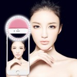 Charging Selfie Beauty Light for Phones with Adjustable Clip & USB Cable(Pink)