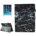 For iPad mini 4 / mini 3 / mini 2 / mini Universal Black Marble Pattern Horizontal Flip Leather Protective Case with Holder & Ca