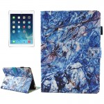 For iPad mini 4 / mini 3 / mini 2 / mini Universal Blue Marble Pattern Horizontal Flip Leather Protective Case with Holder & Car