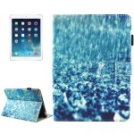 For iPad mini 4 / mini 3 / mini 2 / mini Universal Raindrop Pattern Horizontal Flip Leather Protective Case with Holder & Card S