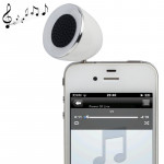3.5mm Mobile Phone Speaker for iPhone 4 & 4S / 3GS / 3G / iPod , iPad , MP3(White)