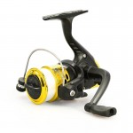JL200 Plating Plastic 3 Ball Bearings Handle Fishing Spinning Reel with Transparent Lines(Gold)