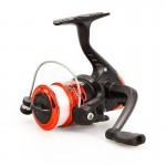 JL200 Plating Plastic 3 Ball Bearings Handle Fishing Spinning Reel with Transparent Lines(Red)